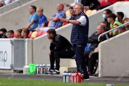 Middlesbrough Manager Neil Warnock gestures during the Pre-Season Friendly match between York City and Middlesbrough at The LNER Community Stadium, York