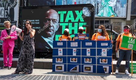 Editorial photo of Rally Calling for Higher Taxes on the Rich, New York, USA - 27 Jul 2021