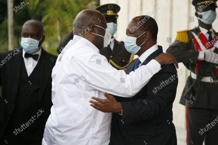 Editorial photo of Ivorian President Ouattara and former Ivorian President Gbagbo meeting, Abidjan, Ivory Coast - 27 Jul 2021