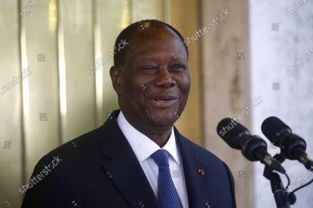 Editorial image of Ivorian President Ouattara and former Ivorian President Gbagbo meeting, Abidjan, Ivory Coast - 27 Jul 2021