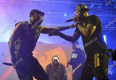 Robert Fitzgerald Diggs, aka RZA, left, and Clifford Smith, aka Method Man, of Wu-Tang Clan, right, performing at the second weekend of the 2013 Coachella Valley Music and Arts Festival in Indio, Calif. An unreleased Wu-Tang Clan album forfeited by Martin Shkreli after his securities fraud conviction was sold, for an undisclosed sum, though prosecutors say it was enough to fully satisfy what he owed on a $7.4 million forfeiture order he faced after his 2018 sentencing