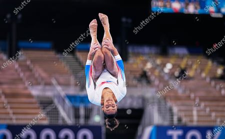 Melanie De Jesus Dos Santos of France during women's  Artistic  Gymnastics team final at the Olympics at Ariake Gymnastics Centre, Tokyo, Japan on July 27, 2021.