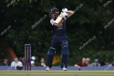 Peter Handscomb of Middlesex bats during the Royal London One Day Cup match between Middlesex County Cricket Club and Durham County Cricket Club at Cobden Hill, Radlett on Tuesday 27th July 2021.