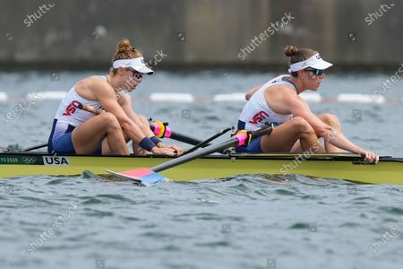 Editorial picture of Olympics Rowing, Tokyo, Japan - 28 Jul 2021
