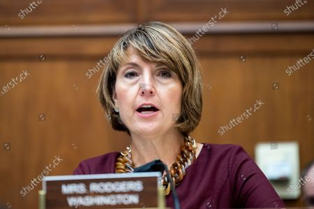 U.S. Representative Cathy McMorris Rodgers (R-WA) speaks at a hearing of the House Committee on Energy & Commerce Subcommittee on Energy.
