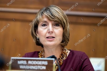 Stock Picture of U.S. Representative Cathy McMorris Rodgers (R-WA) speaks at a hearing of the House Committee on Energy & Commerce Subcommittee on Energy.
