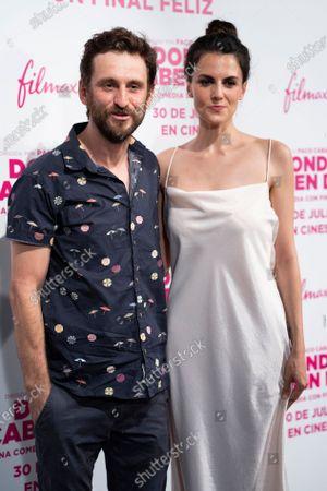 Melina Matthews, Raul Arevalo attends the 'Donde Caben Dos' premiere at Palacio de la Prensa Cinema in Madrid.