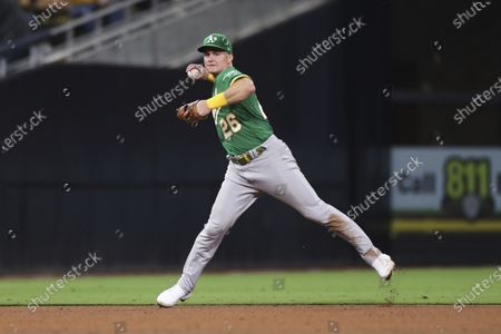 Editorial photo of Athletics Padres Baseball, San Diego, United States - 27 Jul 2021