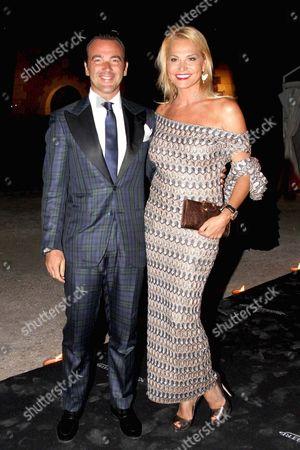 Alessandro Martorana with Simona Ventura