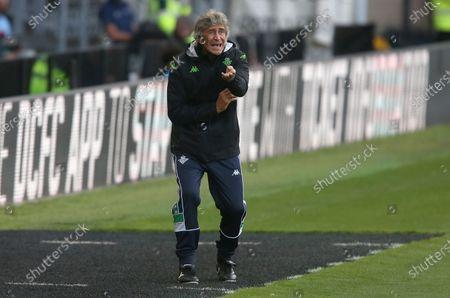 Stock Image of Real Betis manager Manuel Pellegrini