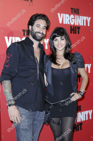 Stock Photo of Daniel Weber and Sunny Leone