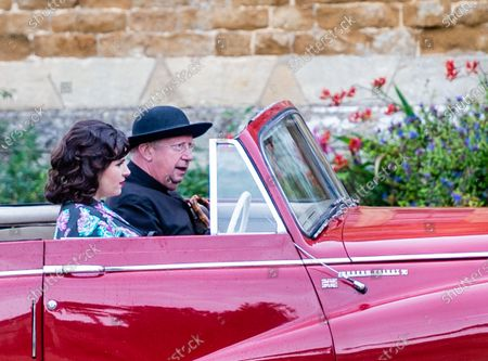 """Stock Picture of Mark Williams (Father Brown) with Emer Kenny (the Honourable Penelope """"Bunty"""" Windermere)"""
