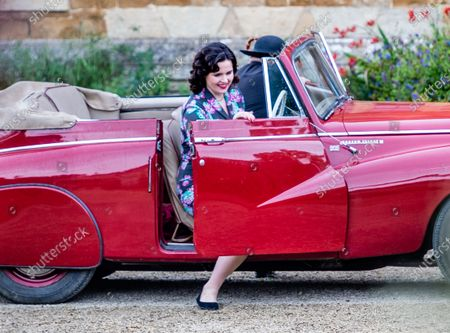 Editorial image of 'Father Brown' TV show on set filming, Chastleton House, Oxfordshire, UK - 28 Jul 2021