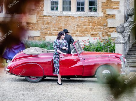 Editorial photo of 'Father Brown' TV show on set filming, Chastleton House, Oxfordshire, UK - 28 Jul 2021