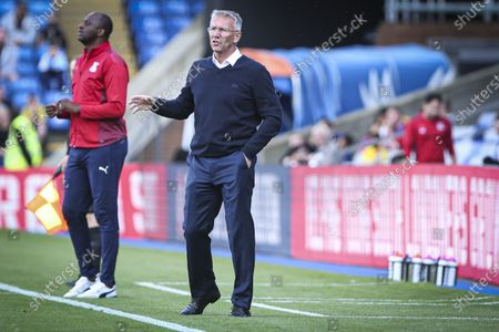 Nigel Adkins manager of Charlton Athletic during the Pre-season Friendly match between Crystal Palace and Charlton Athletic at Selhurst Park, London, England on 27th July 2021.