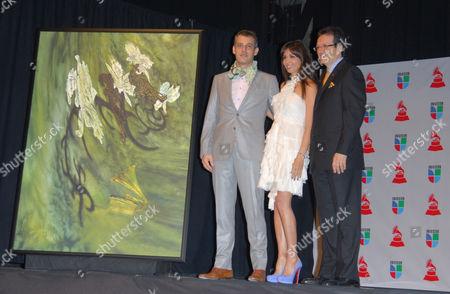 Stock Photo of Giselle Blondet, Walter Goldfarb, Gabriel Abaroa