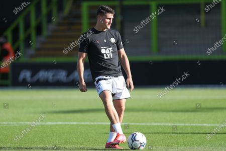 Forest Green Rovers Matt Stevens(9) warming up during the Pre-Season Friendly match between Forest Green Rovers and Swansea City at the New Lawn, Forest Green