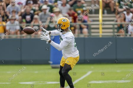 Green Bay Packers' tight end Marcedes Lewis during NFL football training camp, in Green Bay, Wis