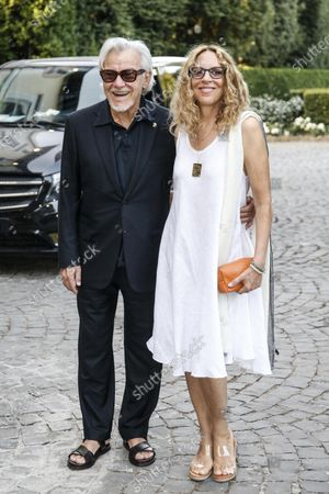 US actor Harvey Keitel (L) and his wife Daphna Kastner attend a meeting in his honor organized at the American Embassy in Rome, Italy, 28 July 2021. Keitel is in Italy where he received a award at the Filming Italy Festival on 23 July.