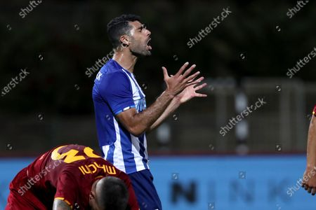 Mehdi Taremi of FC Porto reacts during an international club friendly football match between AS Roma and FC Porto at the Bela Vista stadium in Lagoa, Portugal on July 28, 2021.