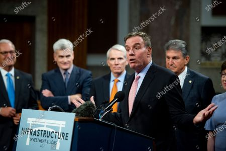 Editorial image of Reaction to the Vote to begin Debate on the Bipartisan Infrastructure Bill in the US Senate, Washington, District of Columbia, USA - 28 Jul 2021