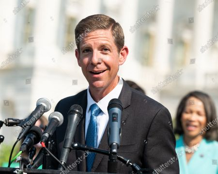 Stock Image of U.S. Representative Mike Levin (D-CA) speaks at a press conference where members of the Congress called for climate action.
