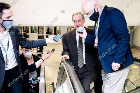 Editorial image of Senators Near the Senate Subway in Washington, US - 28 Jul 2021