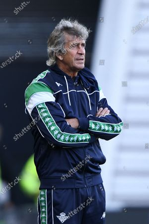 Stock Picture of Manuel Pellegrini, head coach of Real Betis during the Pre-season Friendly match between Derby County and Real Betis Balompi at the Pride Park, Derby on Wednesday 28th July 2021.