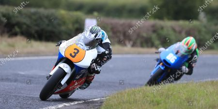 Michael Dunlop on his way to his first victory of the 2021 Armoy Road Races in the 250GP race; Armoy, Antrim, Northern Ireland; Armoy Road Races, The Race of Legends Motor Cycling, Day One.