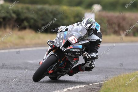 Michael Dunlop (Synetiq BMW by TAS Racing) qualified in 5th place for Saturdays Open A race; Armoy, Antrim, Northern Ireland; Armoy Road Races, The Race of Legends Motor Cycling, Day One.
