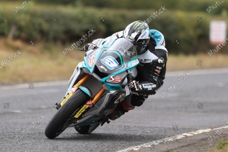 Michael Dunlop (Yamaha R6) takes pole position for Saturdays SuperSport race; Armoy, Antrim, Northern Ireland; Armoy Road Races, The Race of Legends Motor Cycling, Day One.