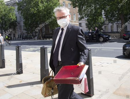 Stock Image of Michael Gove, Chancellor of the Duchy of Lancaster and Minister for the Cabinet Office, arrives at the Cabinet office.