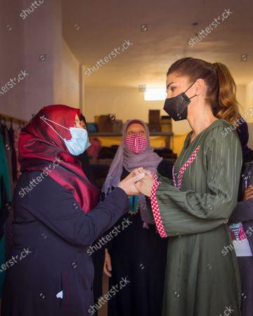 Queen Rania visit to Al Shobak