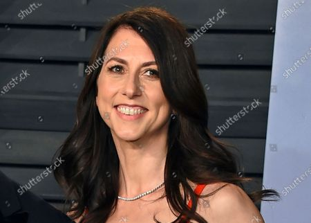 MacKenzie Bezos arrives at the Vanity Fair Oscar Party in Beverly Hills, Calif. Philanthropists Melinda French Gates, MacKenzie Scott and the family foundation of billionaire Lynn Schusterman awarded $40 million, to four gender equality projects