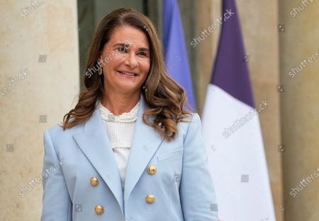 Melinda Gates, co-chair of the Bill and Melinda Gates Foundation, poses for photographers as she arrives for a meeting after a meeting on the sideline of the gender equality conference at the Elysee Palace in Paris. Philanthropists Melinda French Gates, MacKenzie Scott and the family foundation of billionaire Lynn Schusterman awarded $40 million Thursday, July 29, 2021, to four gender equality projects