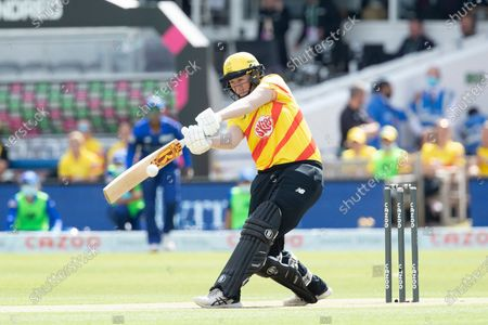 Sammy-Jo Johnson, Trent Rockets pulls square of the wicket for a boundary during London Spirit Women vs Trent Rockets Women, The Hundred Cricket at Lord's Cricket Ground on 29th July 2021