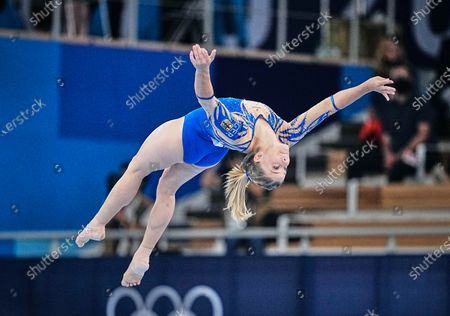Stock Photo of Pauline Schaefer-Betz of Germany during the all around artistic gymnastics final at the Olympics at Ariake Gymnastics Centre, Tokyo, Japan
