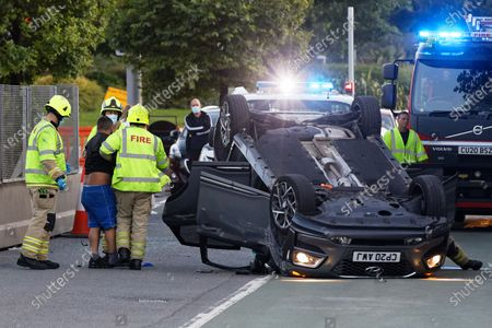 Traffic accident, Swansea