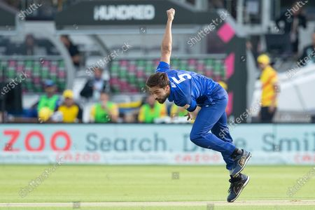 Mohammad Amir, London Spirit in action during London Spirit Men vs Trent Rockets Men, The Hundred Cricket at Lord's Cricket Ground on 29th July 2021