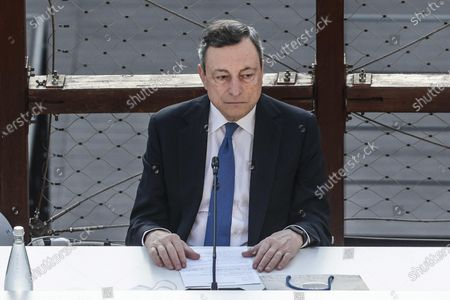 Italian Prime Minister Mario Draghi, partecipates at the G20 meeting of the Ministers of Culture in the Colosseum, in Rome, Italy, 29 July 2021.