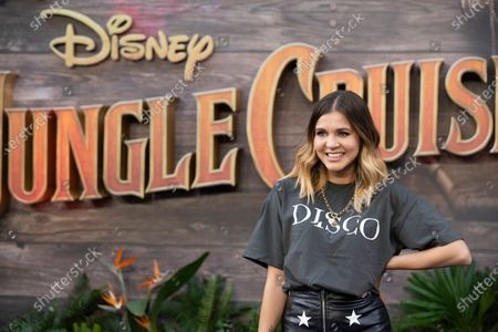 """Lauren Layfield attends Disney's """"Jungle Cruise"""" UK premiere at Cineworld Leicester Square on July 29, 2021"""