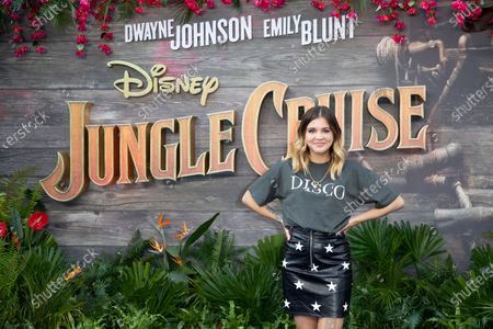 """Stock Photo of Lauren Layfield attends Disney's """"Jungle Cruise"""" UK premiere at Cineworld Leicester Square on July 29, 2021"""