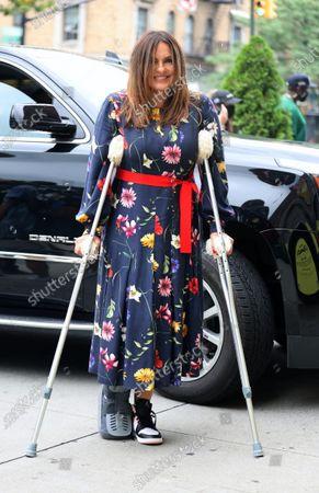 Editorial photo of Mariska Hargitay out and about, New York, USA - 29 Jul 2021