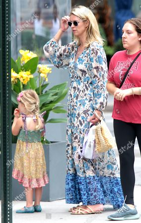 Stock Photo of Nicky Hilton Rothschild with Lily Grace Victoria Rothschild seen walking around Soho