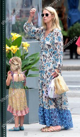 Nicky Hilton Rothschild with Lily Grace Victoria Rothschild seen walking around Soho
