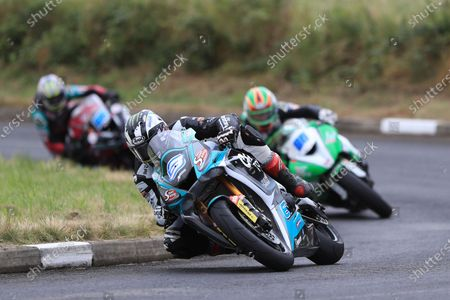 Michael Dunlop (Yamaha R6) takes the win in the second of the SuperSport races; Armoy, Antrim, Northern Ireland; Armoy Road Races, The Race of Legends Motor Cycling, Day Two.