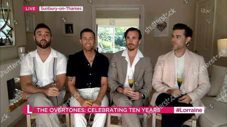 Stock Picture of The Overtones The Overtones - Jay James, Mike Crawshaw, Darren Everest and Mark Franks