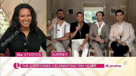 Ranvir Singh and The Overtones The Overtones - Jay James, Mike Crawshaw, Darren Everest and Mark Franks