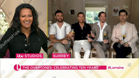 Stock Image of Ranvir Singh and The Overtones The Overtones - Jay James, Mike Crawshaw, Darren Everest and Mark Franks