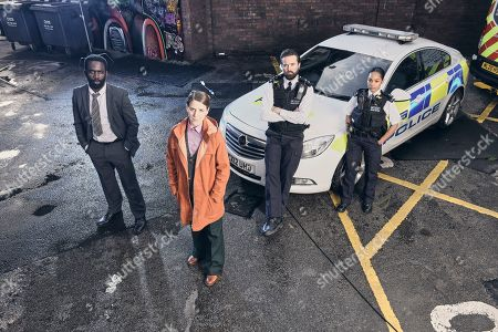 Stock Photo of The Tower - Gemma Whelan stars as Detective Sergeant Sarah Collins in a drama new ITV series, with Emmett J. Scanlan, Tahirah Sharif and Jimmy Akingbola.